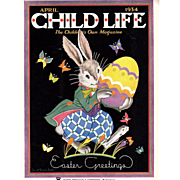 Easter 1934 April Child Life Magazine Complete