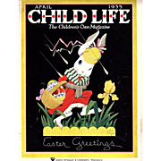 Easter 1935 April Child Life Magazine Complete