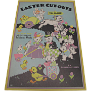 1937 Easter Greeting Cards Cutout Book Liz Tedder Unused
