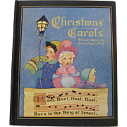 1937 Christmas Carols Hard Cover Book Fern Bisel Peat