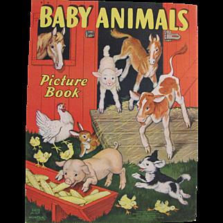 1938 Baby Animals Children's Book