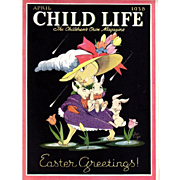 Easter 1938 April Child Life Magazine Complete