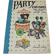 1938 Party Cut-Outs Teddy Bear Theme