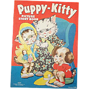 1938 Puppy-Kitty Picture Story Book