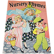 1939 Nursery Rhymes Children's Book Florence Salter