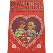 16 Valentines To Cut-Out & Make Up Book