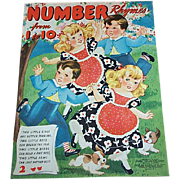 1941 Number Rhymes Count To Ten Book Illustrated by Florence Salter