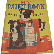 1940 My Paint & Coloring Book Dogs Unused