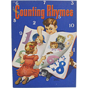 1944 Counting Rhymes Children's Book Florence Sarah Winship