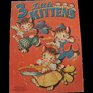 1942 Three Little Kittens Children's Book