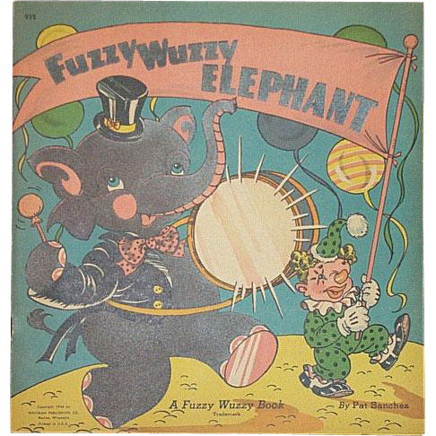 1944 Fuzzy Wuzzy Elephant Book By Whitman
