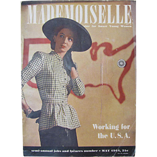 Mademoiselle May 1944 Magazine For Smart Young Women
