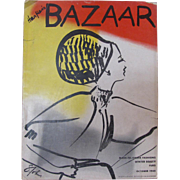 Harper's Bazaar Oct 1945 Fashion Magazine