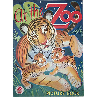 1946 At The Zoo Children's Book