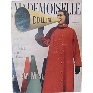 Mademoiselle Aug 1949 Magazine For Smart Young Women