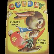 1950 Cuddly Animals Children's Book