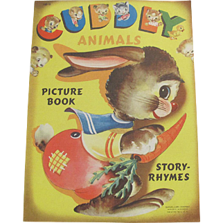 1950 Cuddly Animals Children's Book