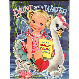 1956 Fairy & Swan Paint With Water Book
