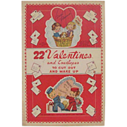 22 Valentines & Envelopes To Cut-Out & Make Up Book
