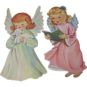 Pair Sweet Angels Die Cut Decorations by Dennison