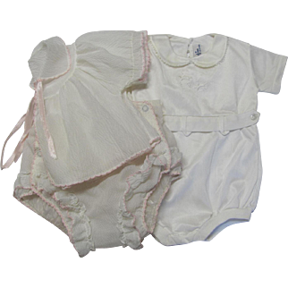 Two Vintage Baby Outfits