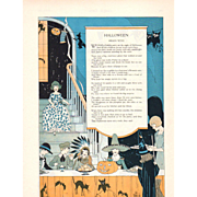 October 1925 Halloween Verse & Print 2 Pages