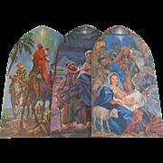3 Christmas Nativity Panels Decoration by Dennison