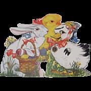 Three Easter Rabbit Duck Chick Self Standing Die-Cuts