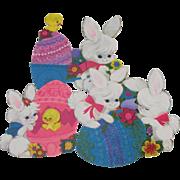 Three Small Easter Hallmark Decorations Bunny Chick