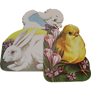 3 Large Easter Decoration Die Cuts Lamb Chick Rabbit