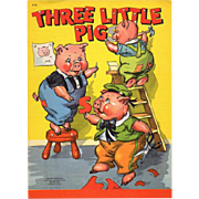 1942 Three Little Pigs Children's Book