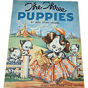1938 The Three Puppies Children's Book by Whitman
