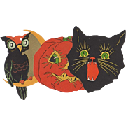 3 Small Halloween Diecuts  JOL Cat Owl