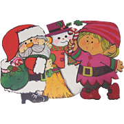 3 Christmas Die Cut Hallmark Decorations Santa Snowman Elf