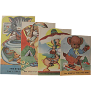 Set 4 Small Children's Books Kitty Dog Duck & Bear