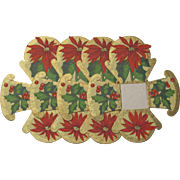 Set 4 Hallmark Poinsettia Nut Cups