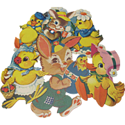 4 Easter Decoration Die Cuts Rabbit Duck Chick