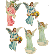 5 Double Sided Christmas Angels Die-Cuts
