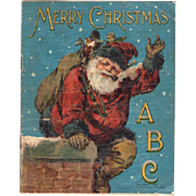 1899 Merry Christmas ABC Linen Book