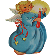 Sweet Angel Holding Candle Die-Cut Decoration