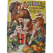 1944 Animal Coloring Book Unused