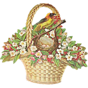 Lg DieCut Basket Bird & Nest Advertising A & P Company