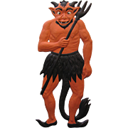Halloween Devil Embossed German Die-Cut