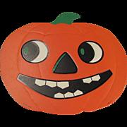 Halloween Large Smiling JOL Embossed Die Cut USA