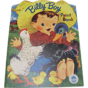 1952 Billy Boy Paint Book Unused