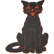 Halloween Smiling Black Cat Decoration
