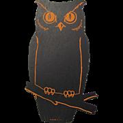 Halloween Dennison Owl Flat Die-Cut