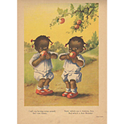 1929 Black Twin Girls Book Print