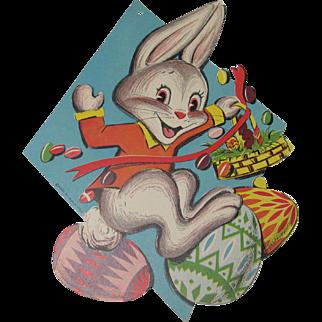 Easter Rabbit Eggs Basket Beistle Cutout Decoration