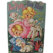1954 Bo-Peep & Boy Blue Coloring Book Unused